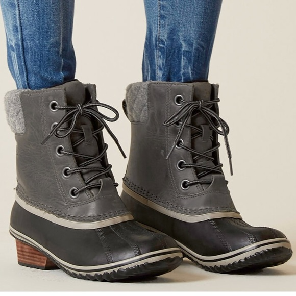 New Sorel Slimpack Ll Lace Duck Boots